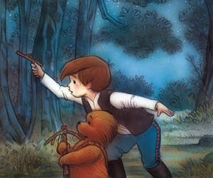 star wars, winnie the pooh, and chewbacca image