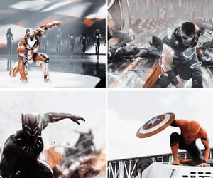 Avengers, black panther, and iron man image