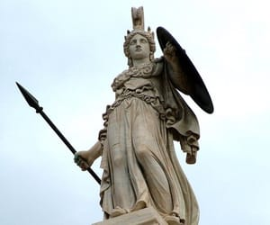 ancient, athena, and statue image