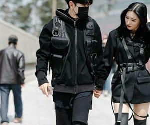 seoul fashion week, black, and fashion image