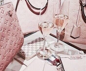 bags, cute, and champagne image