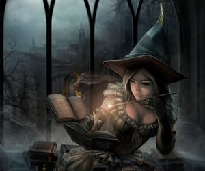 witch, magic, and fantasy image
