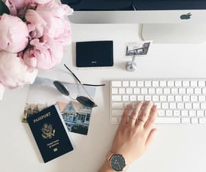pink, travel, and work image
