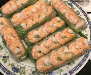 food, spring rolls, and food lovers image