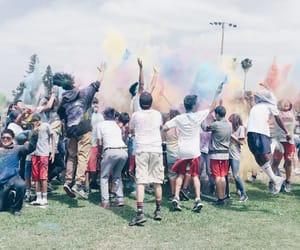blast, color, and rainbow image