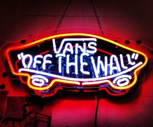 vans, skate, and neon image