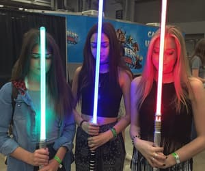 girl, friends, and star wars image