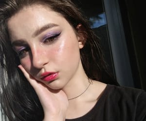 makeup fashion style, pink red purple, and girl girls summer image