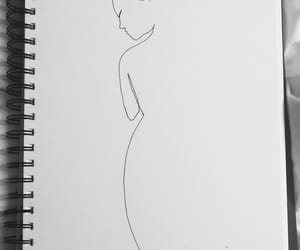 black, naked, and drawing image