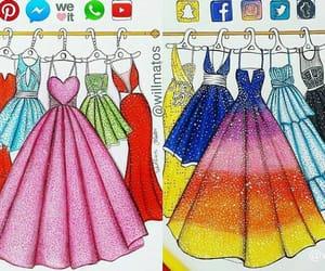 art, dress, and art dress image