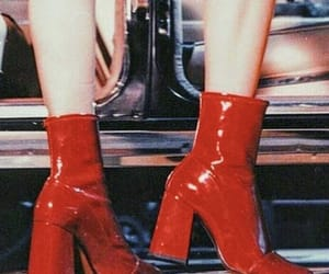 aesthetic, red, and boots image
