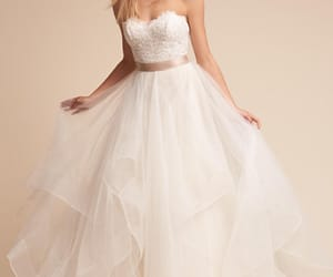 wedding gown, dress, and wedding dress image