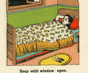 bed, sleep, and window image