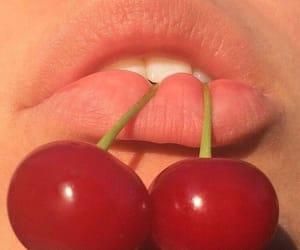 cherry, lips, and aesthetic image