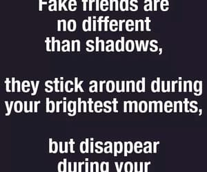 quotes, fake friends, and hard times image