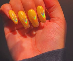 acrylics, long nails, and nails image