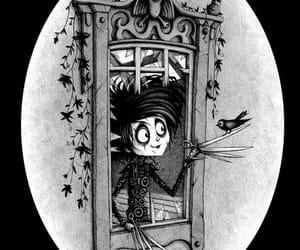 edward, tim burton, and black and white image