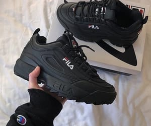 shoes, black, and Fila image