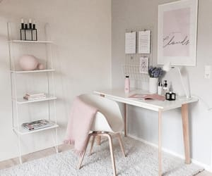 decor, room, and pink image