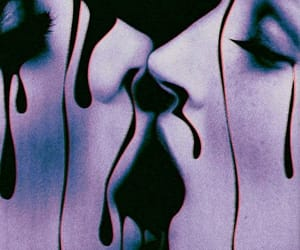 kiss, art, and glitter image