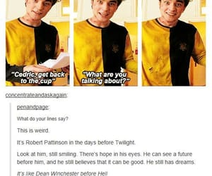 harry potter, robert pattinson, and cedric diggory image