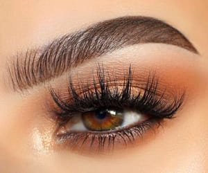 brown eyes, brown shadow, and lashes image