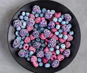 berries, bowl, and frozen image