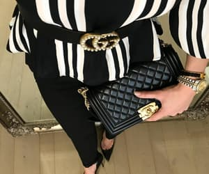 fashion style, gucci bag, and designer dress image