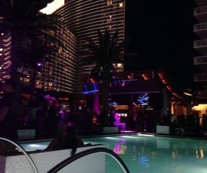 night and pool image