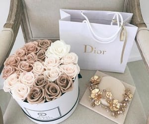 dior, gurl, and flowers image