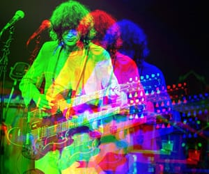 jimmy page, music, and trippy image
