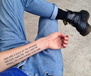 tattoo, grunge, and jeans image