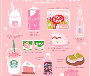 sakura, food, and japan image