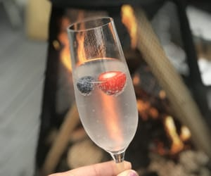berries, cocktail, and fun image