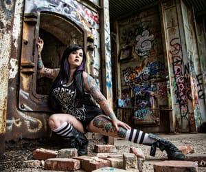 alt model, gothic, and alternative style image
