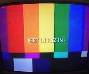 tv, kiss, and lgbt image