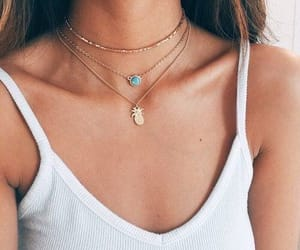 girl, fashion, and necklace image