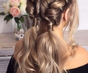 hair, braids, and beauty image