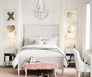 bedroom, bed, and decoration image