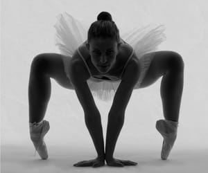 ballet, bw, and dancer image