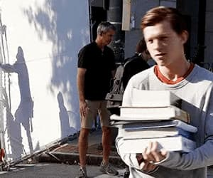 gif, tom holland, and spiderman image