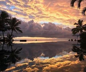 beautiful, sky, and sunset image