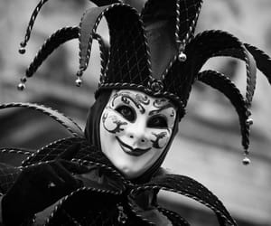 bw, Jester, and mask image