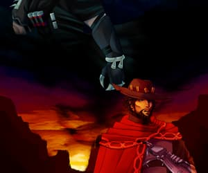 digital art, reaper, and jesse mccree image