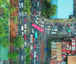 aerial photography, aerial view, and street image