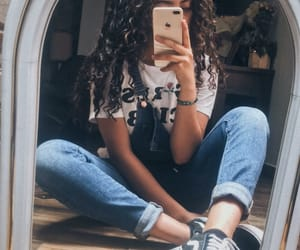 iphone, outfit, and vans image