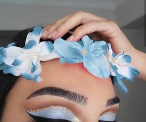beauty, floral, and glitter image