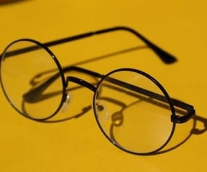 yellow, glasses, and aesthetic image