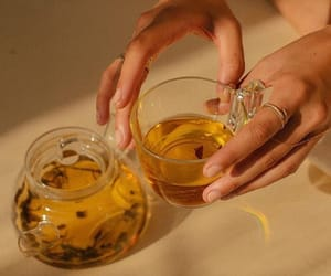 aesthetic, tea, and yellow image