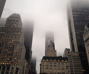 city, fog, and building image